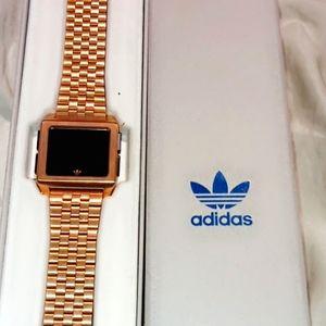 Rose gold Adidas watch